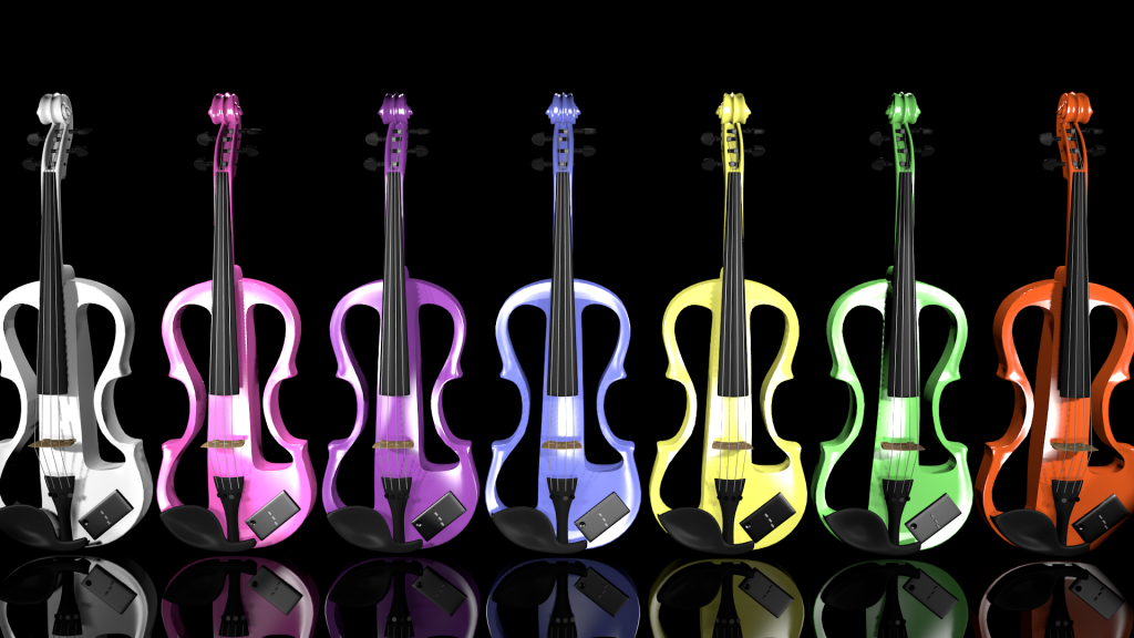 Colorful violins