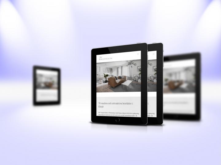 Mockup responsive website – tablet